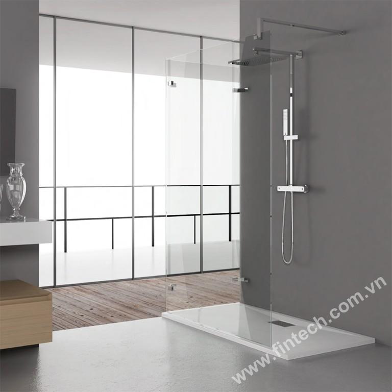phòng tắm kính cường lực hiện đại
