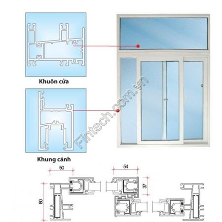 Chi tiết cấu tạo cửa sổ nhôm kính cao cấp mở trượt