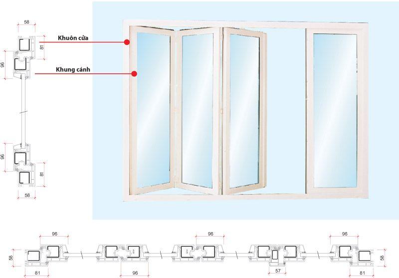 Tìm hiểu chi tiết về cửa đi nhôm kính xếp trượt2