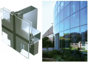 Semi-unitized-Glass-Curtain-Wall