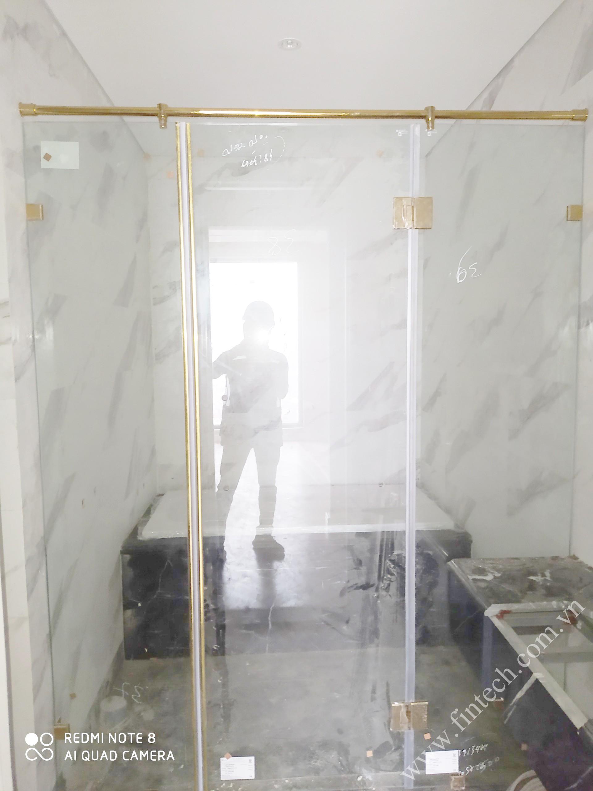Cabin tắm VIP loại to sau khi lắp đặt hoàn thiện