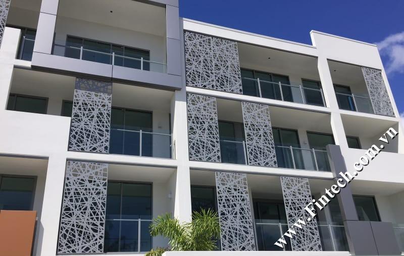 Lam chắn nắng CNC trang trí khách sạn