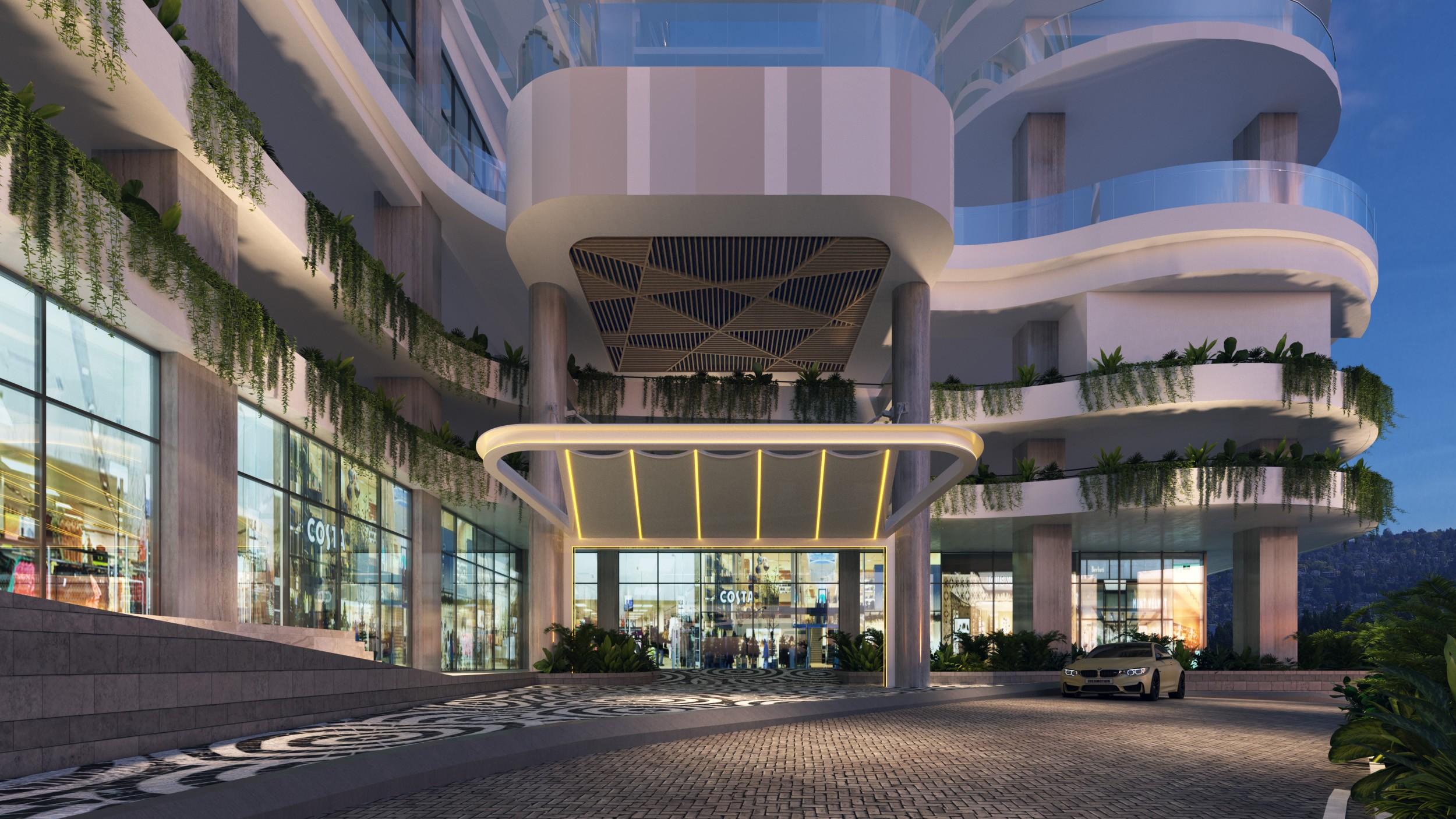 Phối cảnh mái sảnh dự án Citadines Marina Hạ Long