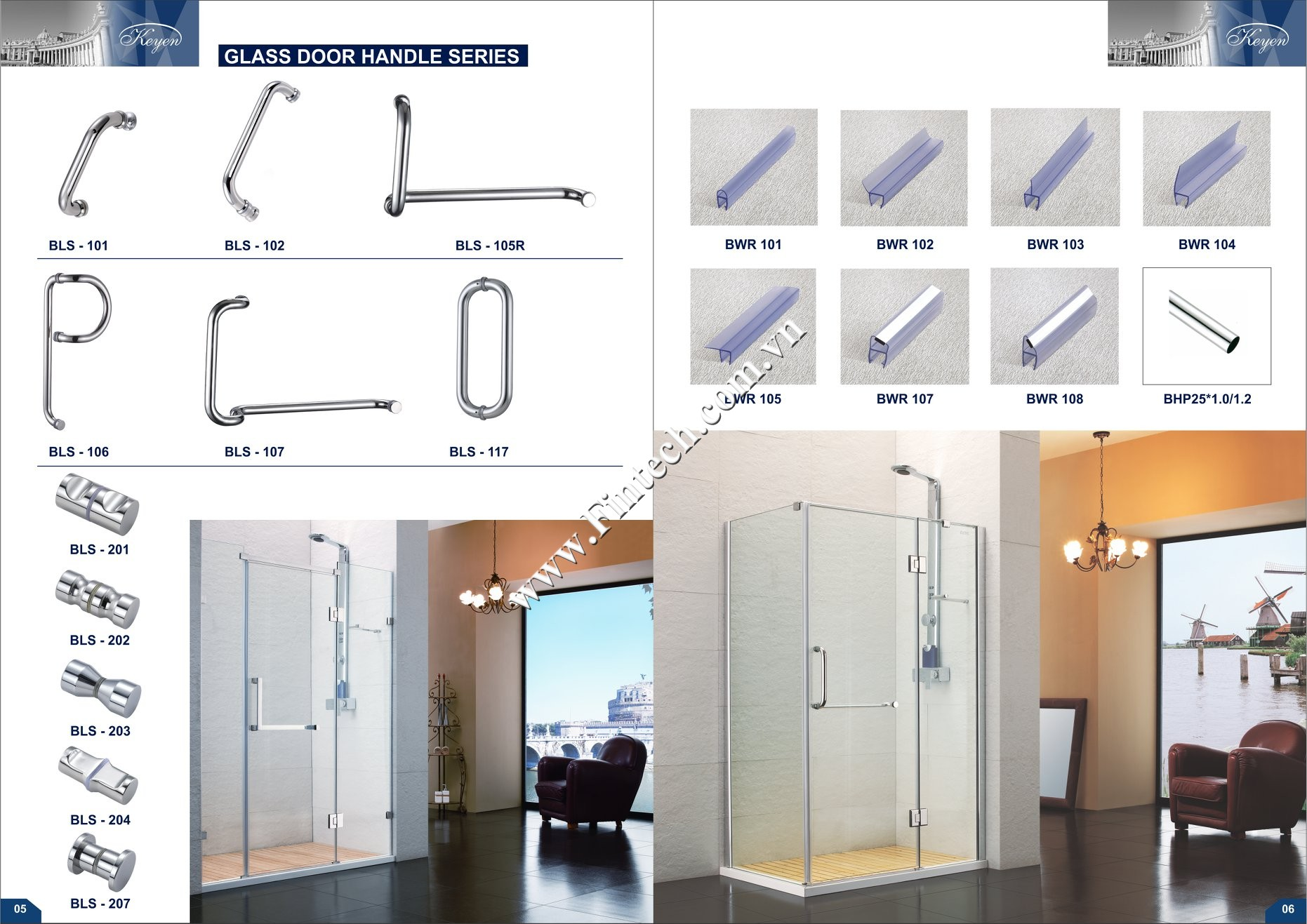 Phụ kiện cabin tắm kínhKeyen 1