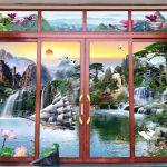 Mẫu cửa nhôm kính tranh 3d Đẹp – Độc – Lạ