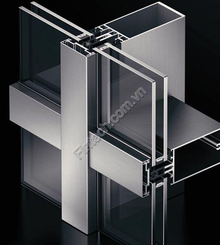 hệ mặt dựng nhôm kính Stick