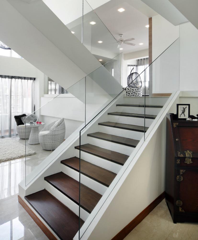 Lắp đặt cầu thang kính phù hợp với những loại công trình nào?